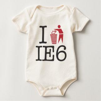 I trash IE6 Baby Bodysuit