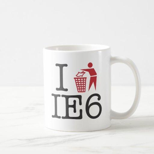 I trash IE6 Classic White Coffee Mug