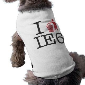 I trash IE6 Dog Tee