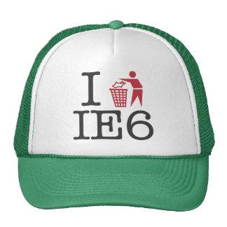 I trash IE6 Hats
