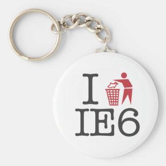 I trash IE6 Key Chains