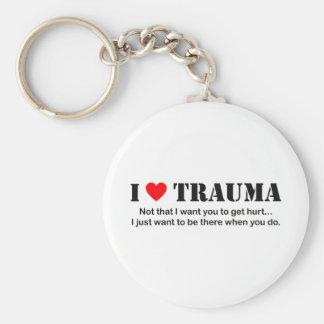 I ♥ Trauma Basic Round Button Keychain
