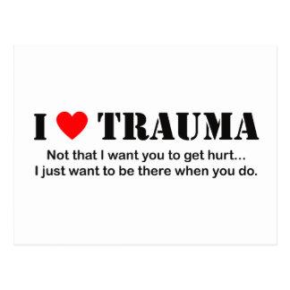 I ♥ Trauma Postcard