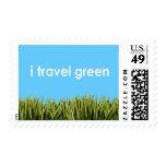 i travel green - stamp