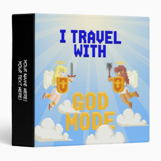 I Travel With God Mode Vinyl Binders