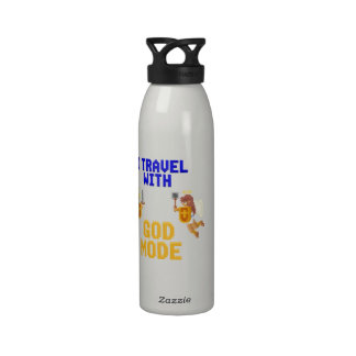 I Travel With God Mode Reusable Water Bottle