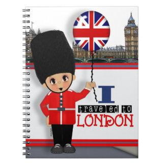 I Traveled to London Notebook