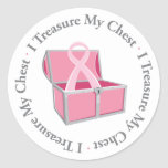 I Treasure My Chest Classic Round Sticker