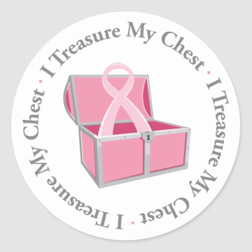 I Treasure My Chest zazzle_sticker