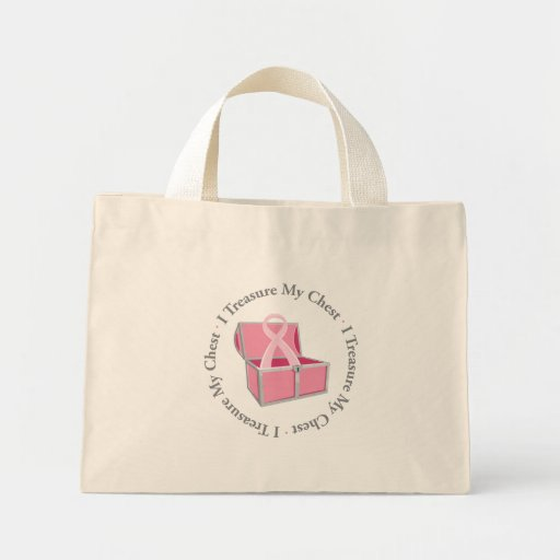 I Treasure My Chest Tote Bags