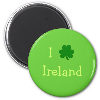 I trébol Irlanda Imán Redondo 5 Cm
