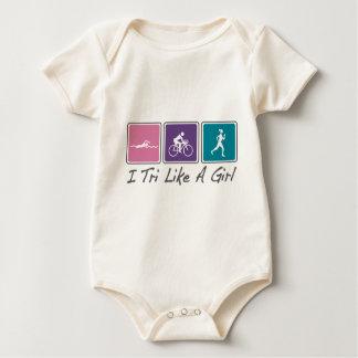 i tri like a girl (Triathlete) Baby Bodysuit