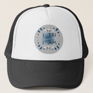 I Tri Therefore I am Triathlon Trucker Hat