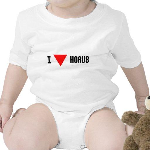I triángulo Horus del rojo Traje De Bebé