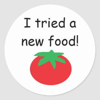 """I Tried a New Food!"" Stickers"
