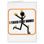 I tried it at home! card
