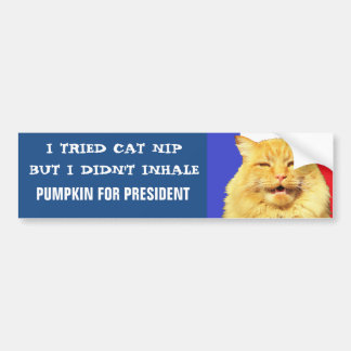 I Tried Nip, I Didn't Inhale Meme Bumper Sticker