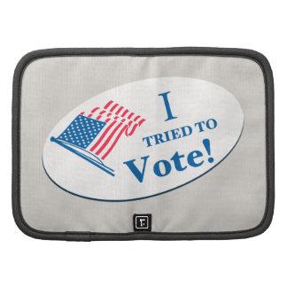 I tried To Vote! Organizers