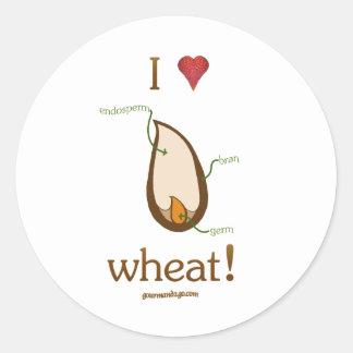 ¡I trigo del corazón! Pegatina Redonda