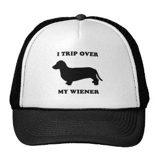 I trip over my wiener trucker hat