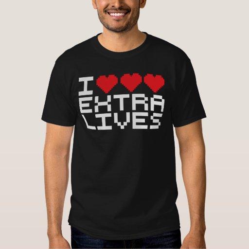 I Triple Heart Extra Lives T Shirts