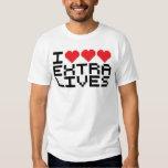 I Triple Heart Extra Lives Tshirt