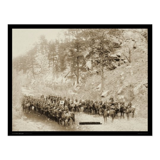 I Troop 8th Cavalry near Fort Meade SD 1889 Poster