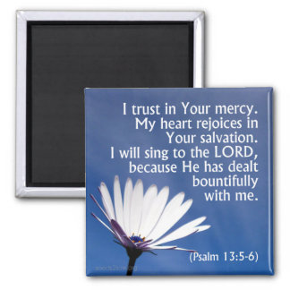 I Trust in God's Mercy Square Magnet