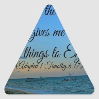 I trust in the living God Triangle Sticker