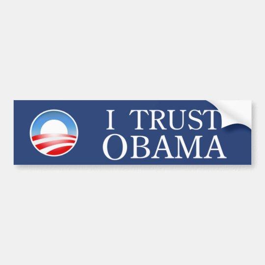 I Trust Obama Bumper Sticker