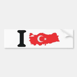 I turkey icon bumper sticker