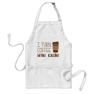 I Turn Coffee Into Programming Code Adult Apron