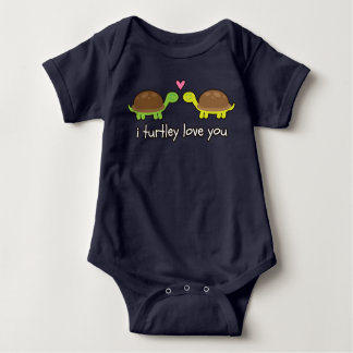 i turtley love you baby grow baby bodysuit