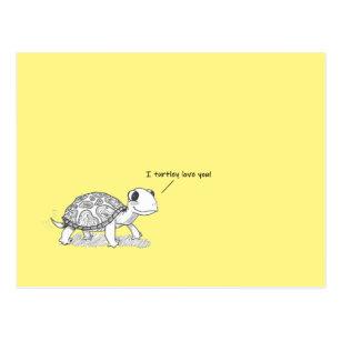 Turtle Love Quote Watercolor Art Print Nerd Love Wedding ...  Turtle Love Sayings