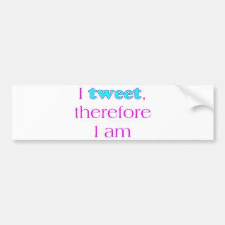 I Tweet Bumper Sticker