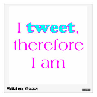 I Tweet Wall Decal