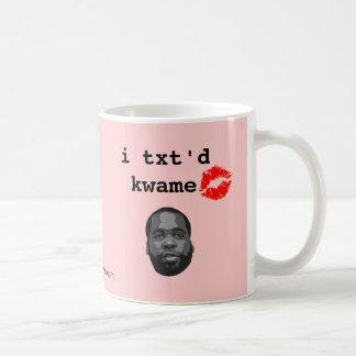 i txt'd kwame coffee mug