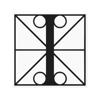 I - Typography Initials Canvas Print