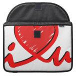 i ♥ u (corazón de i usted) funda para macbooks
