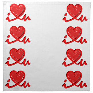 i ♥ u (corazón de i usted) servilletas