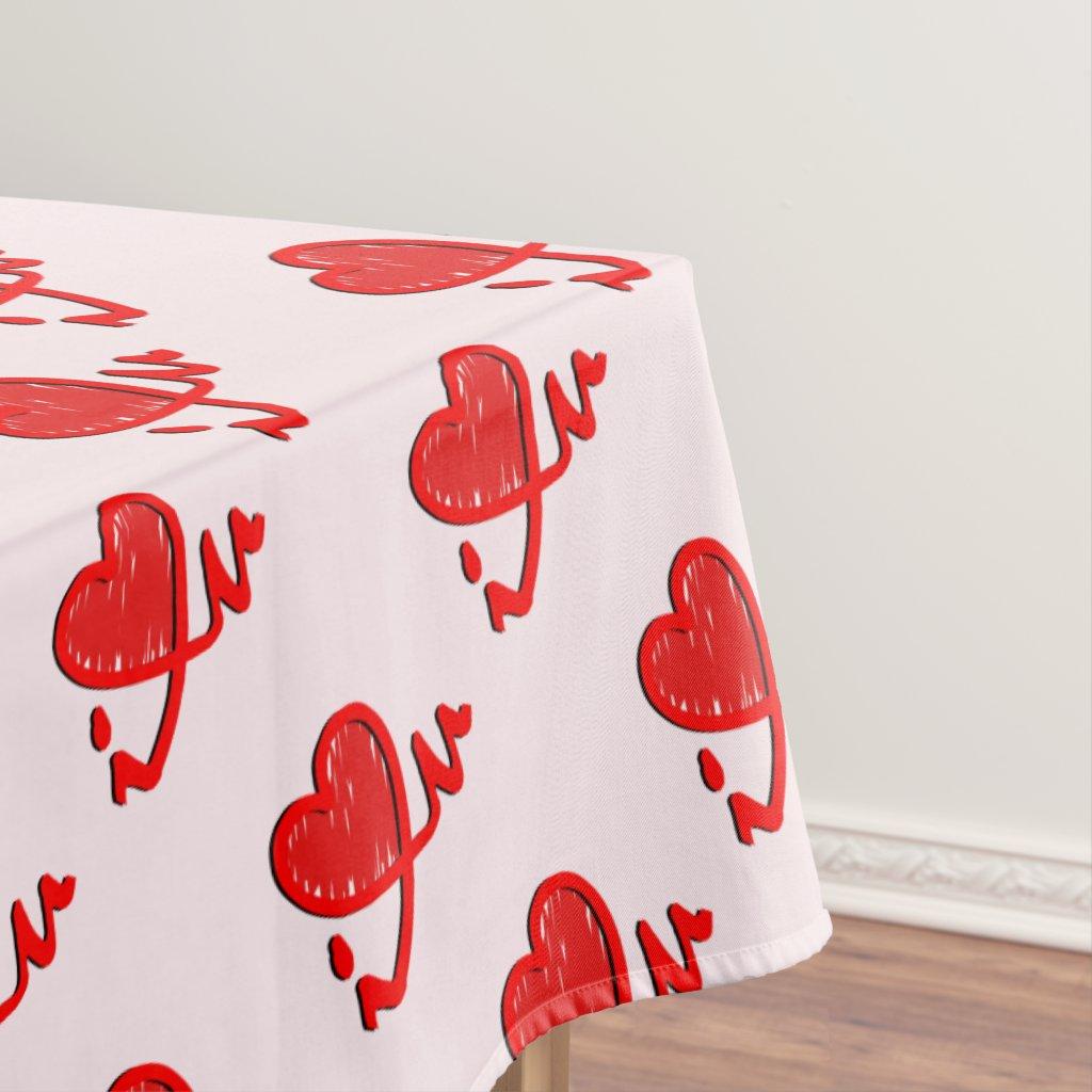 i ♥ u (i heart you) tablecloth