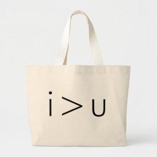 i > u Tote Bag