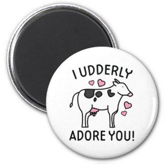 I Udderly Adore You Magnet
