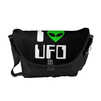 I UFO del corazón del extranjero Bolsas De Mensajeria