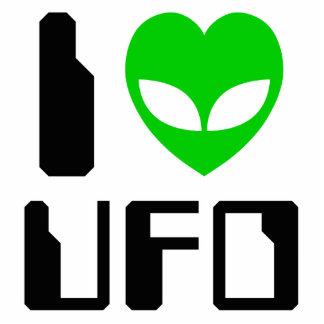 I UFO del corazón del extranjero Fotoescultura Vertical