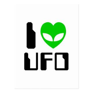 I UFO del corazón del extranjero Postal