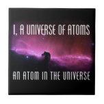 I, un universo de átomos.  Un átomo en el universo Teja Ceramica