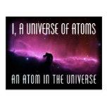 I, un universo de átomos.  Un átomo en el universo Postal