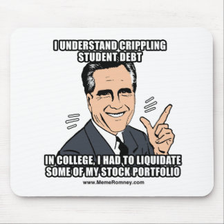 I UNDERSTAND CRIPPLING STUDENT DEBT MOUSE PAD