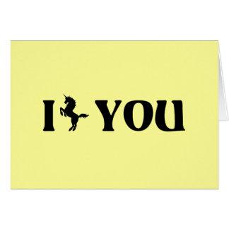 I Unicorn You (Black) Card